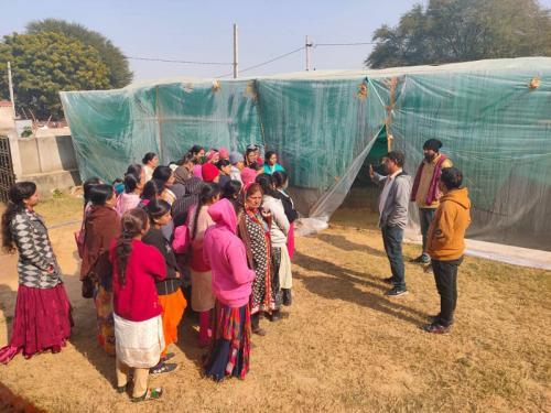 Group Visited Biofloc Fish Farming Farm in Jaipur